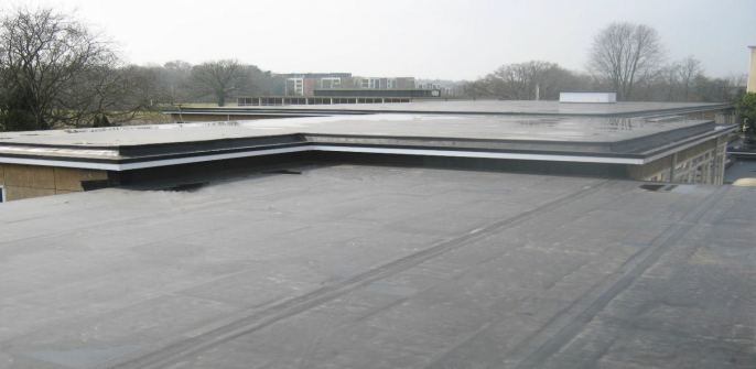 Academy Roof Replacement – RubberBond Fleeceback